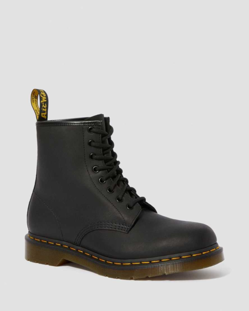 Dr Marten 1460M Black Greasy Leather