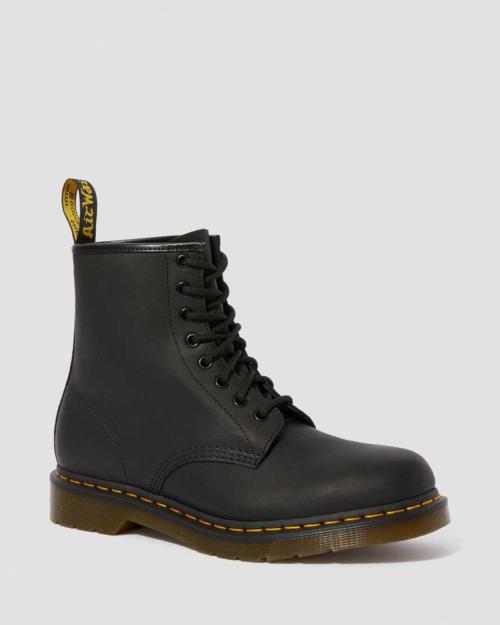 Dr Marten 1460M Black Greasy Leather