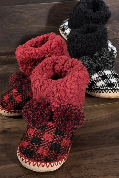 Buffalo Plaid Slipper Boot