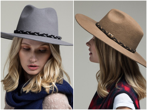 Wool Panama Braided Detail Hat