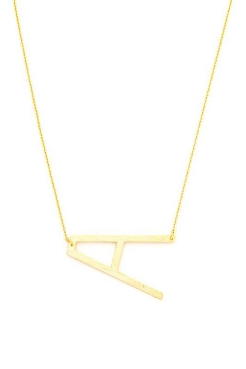 Alphabet Initial Letter Necklace