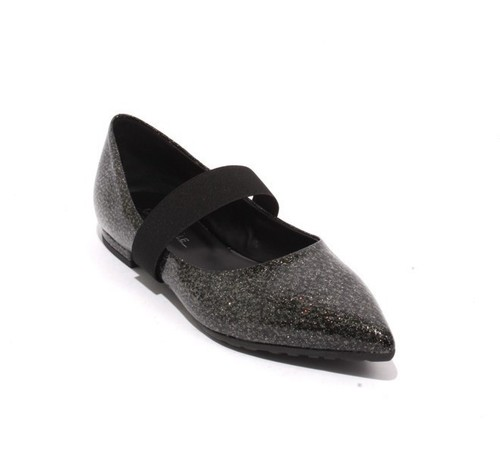 Multicolor Patent Leather Elastic Pointy Shoes