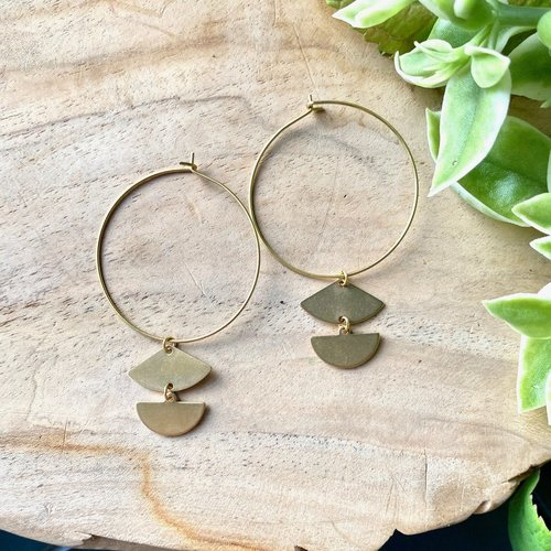 Trina Earrings Brass