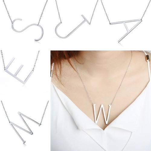 Silver Initial Pendant Necklace