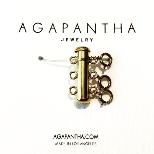Agapantha Gold Fill Necklace Clasp