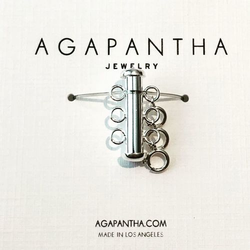 Agapantha Sterling Silver Necklace Clasp