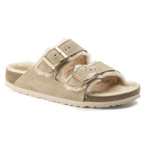 Birkenstock Arizona Shearling Nude/Rose