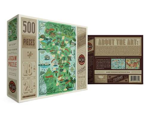 Seattle Illustrated Jigsaw Puzzle