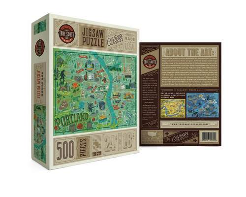 Portland Illustrated Jigsaw Puzzle