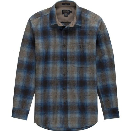 Pendleton Trail Shirt Taupe Grey Blue