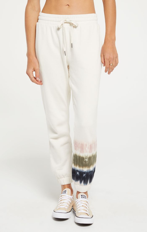 Z Supply Selene Stripe Tie Dye Jogger Bone