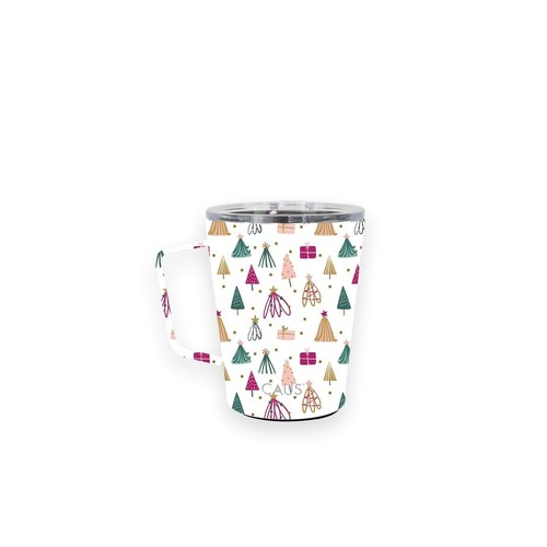 Caus Coffee Tumbler w/Handle Whimsical Winter
