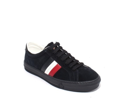Mens Navy NEW Monaco Suede Lace-Up Low-Top Sneakers