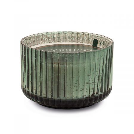 Mercury 15 oz Wide Ribbed Glass Green