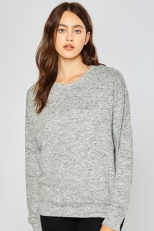 Basic Hacci Ultra Soft Sweatshirt Heather Grey