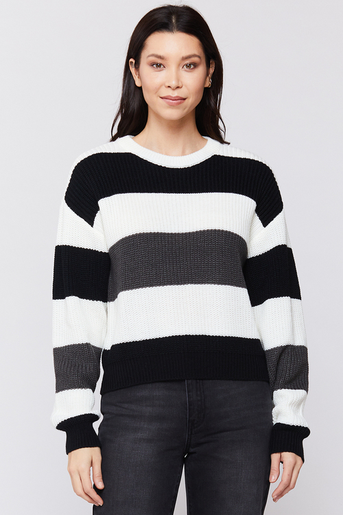 Roman Long Sleeve Top Black