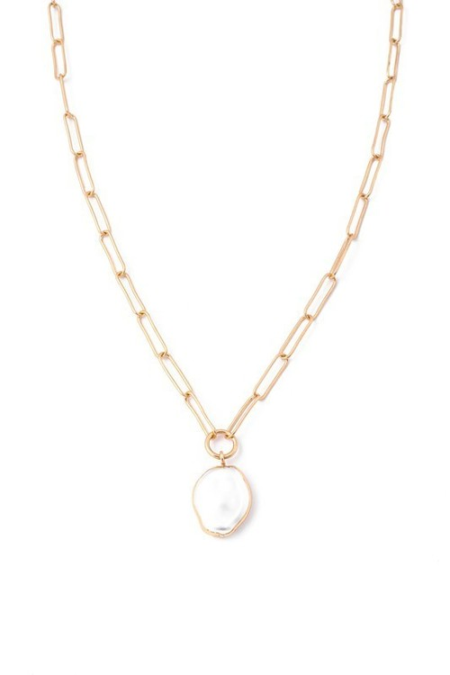 Pearl Charm Chain Necklace