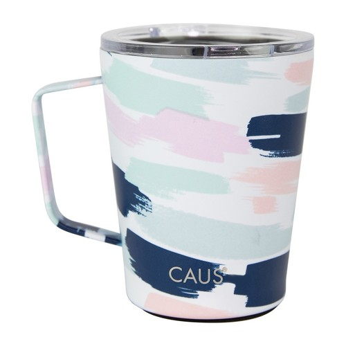 Caus Coffee Tumbler w/Handle Pretty In Paint