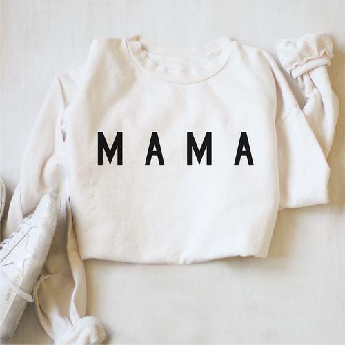 Mama Pullover White