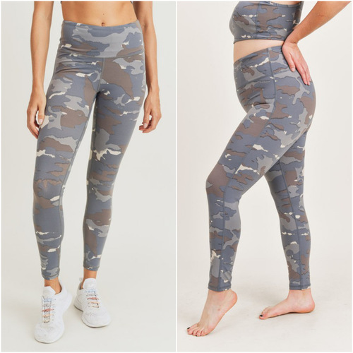 Blue Tundra Camo Leggings Camo