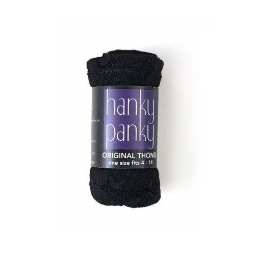 Hanky Panky Lace Original Thong Black