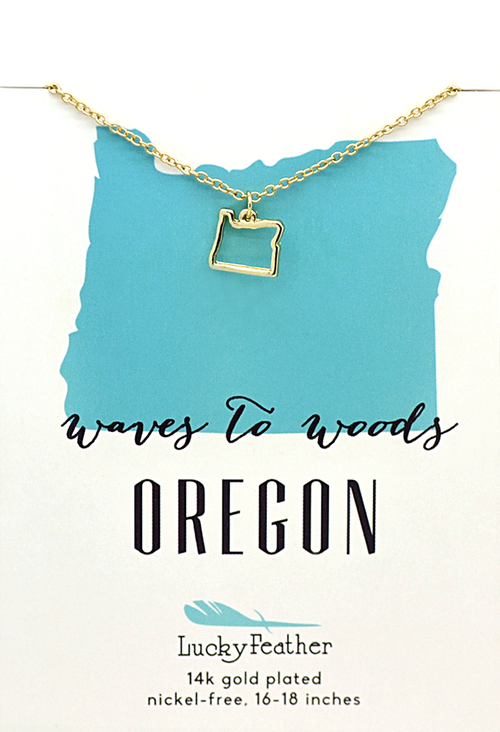 State of Oregon Necklace