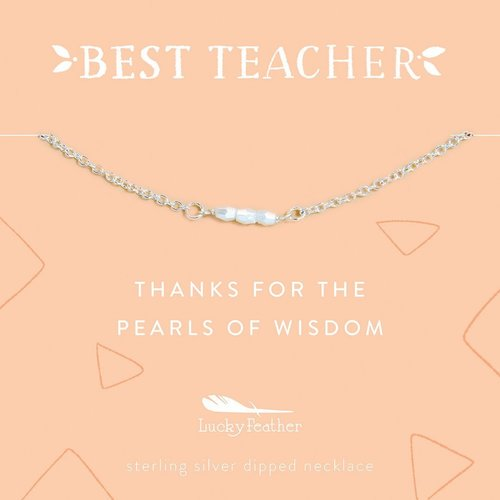 Thanks For The Pearls of Wisdom Necklace - Silver
