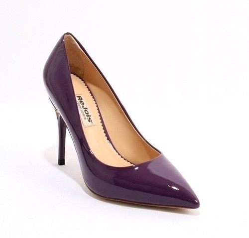 Dark Violet Patent Leather Heels