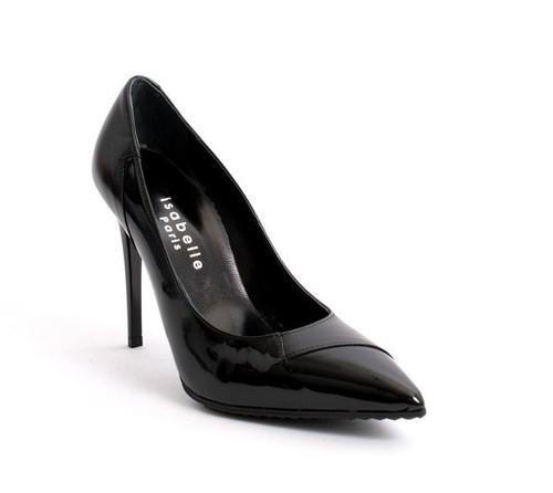 Black Leather / Patent Stiletto Heels Pointy Pumps