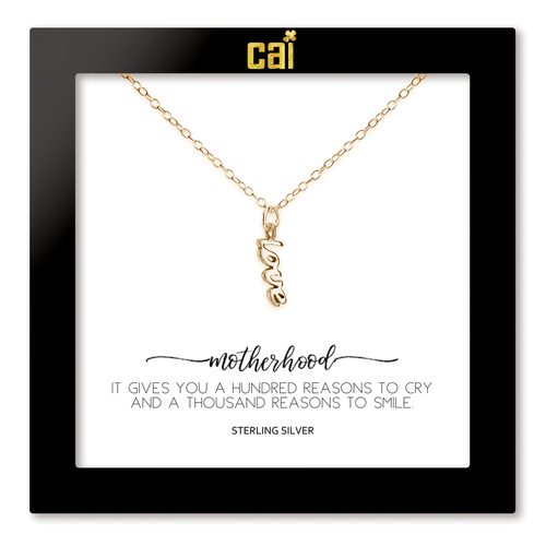 Gold Motherhood Love Necklace