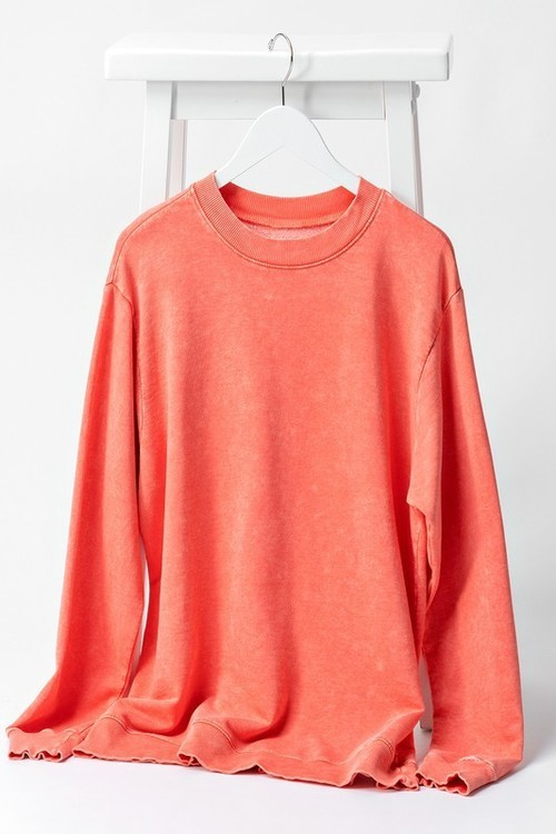 French Terry Sweatshirt Coral