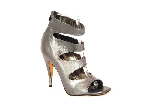 Pewter Strappy Sandals
