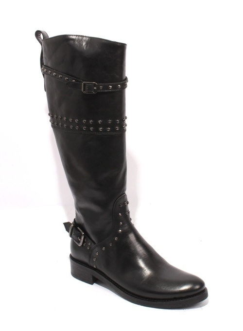 Rich Leather Knee-High Boots