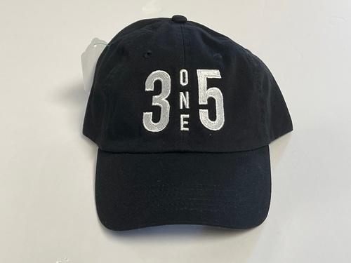 3 One 5 Dad Hat Black/White