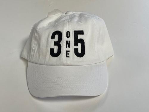 3 One 5 Dad Hat White/ Black
