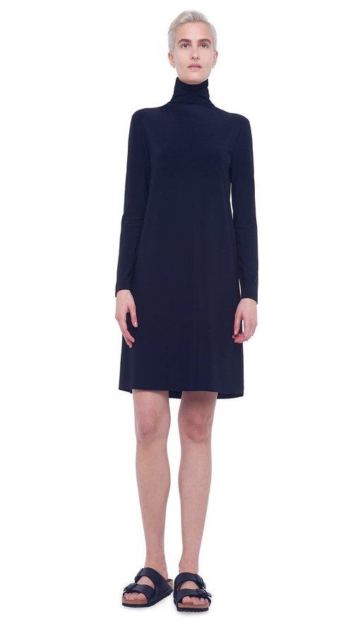 Long Sleeve Turtleneck Dress to Knee