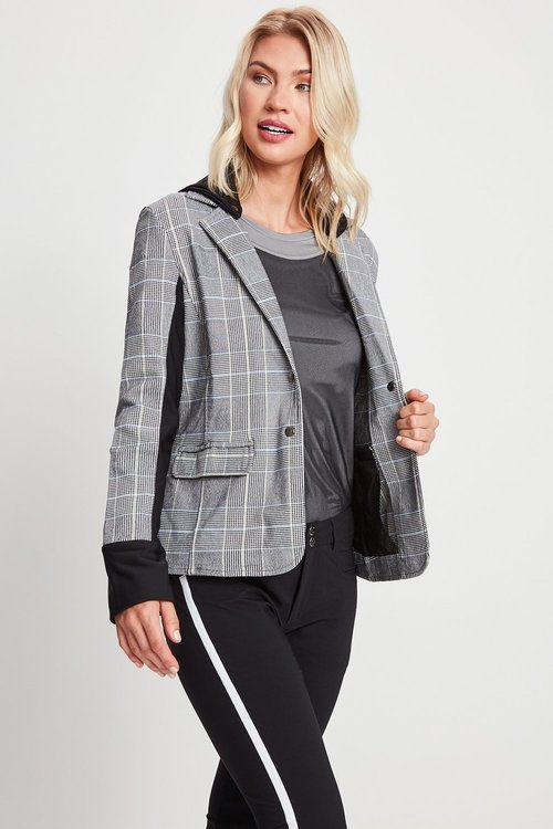 Ingrid Knit Blazer with Hoodie