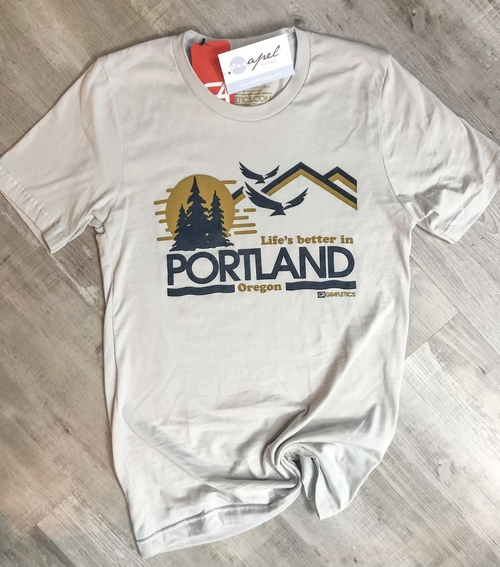 Life's Better In Portland Tee Light Grey