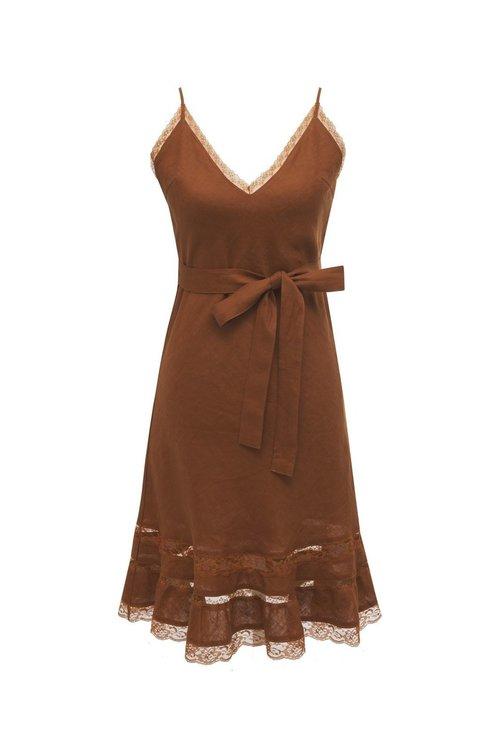 Lili Linen Bias Dress