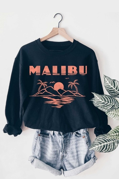 Malibu Graphic Sweatshirt Navy