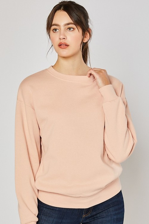 Fleece Sweatshirt Salmon