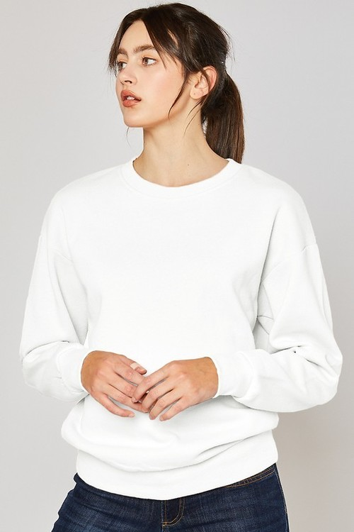 Fleece Sweatshirt White
