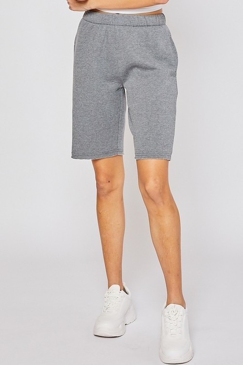 Fleece Bermuda Sweatshorts Heather Grey