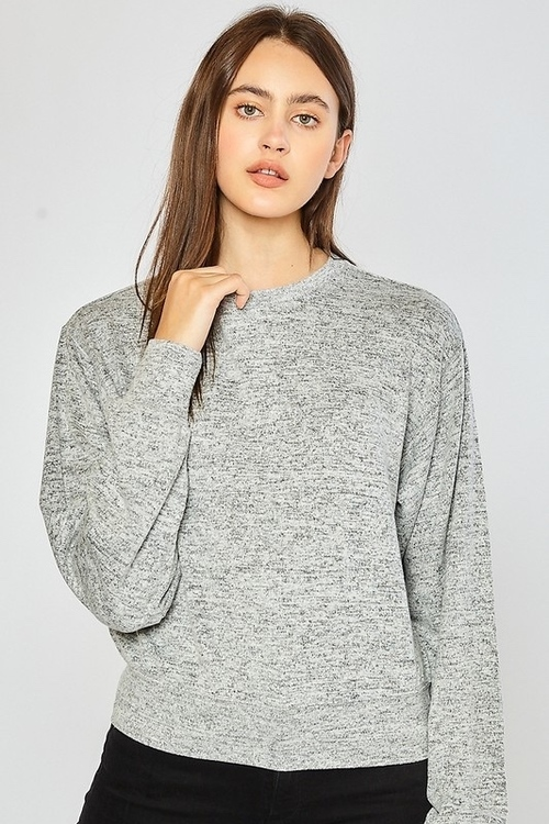 Hacci Sweatshirt Heather Grey