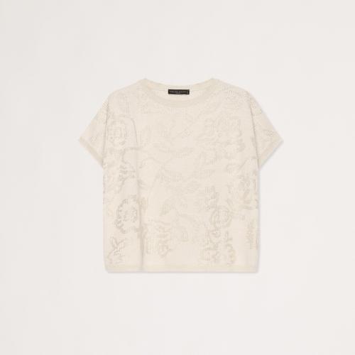 Cashmere Viscose Shirt Sleeve Floral