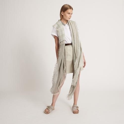 Linen and Cotton Poncho