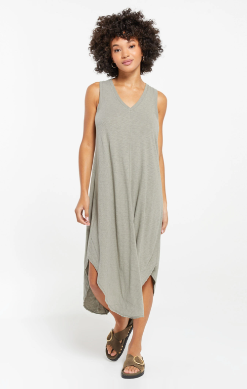 Z Supply The Reverie Dress Dusty Sage