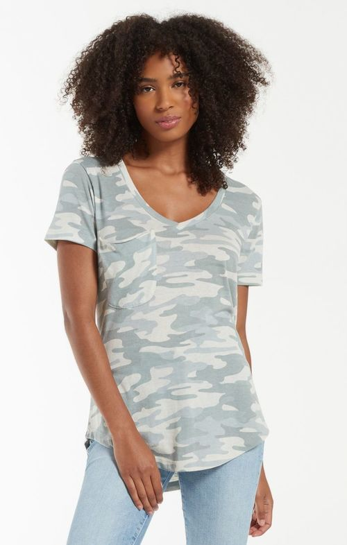 Camo Pocket Tee Dusty Sage