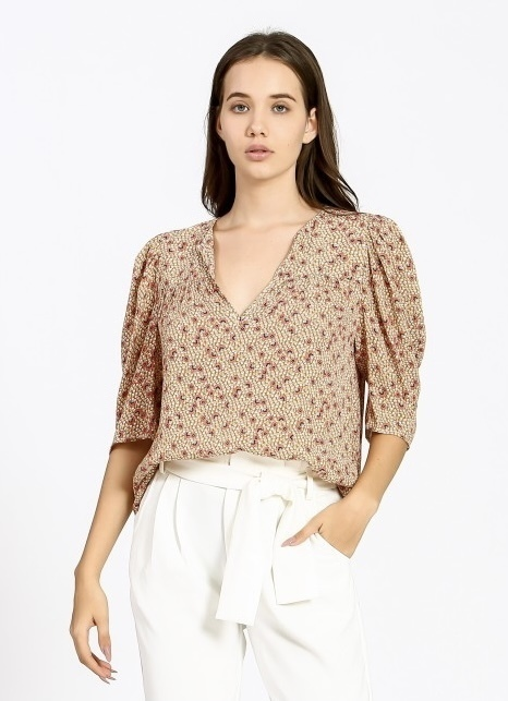 Floral Detailed Blouse Yellow
