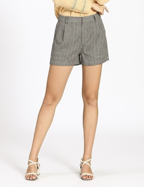 Pin Stripe Shorts W/ Pockets Navy
